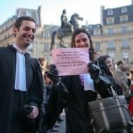 Mobilisation place Vendôme pour la défense de la Justice