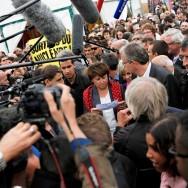 Martine Aubry sous bonne escorte à la fête de l'Huma