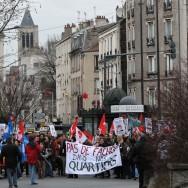 Manifestation anti-FN à Saint-Denis contre la venue de Marine Le Pen