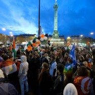 Rassemblement de solidarité avec la Palestine, à Paris