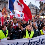 Manifestation contre la christianophobie à Paris