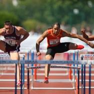 Emanuele Abate bat le record d'Italie du 110 mètres haies à Montgeron, dans l'Essonne