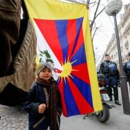 Manifestation à Paris pour un Tibet libre