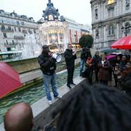 Paris : rassemblement  contre des déclarations racistes à l'encontre de Christiane Taubira