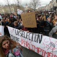 Paris : manifestation contre Parcoursup et la réforme du bac.
