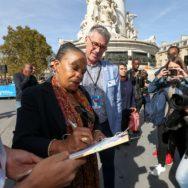 Christiane Taubira soutien Handicap International.