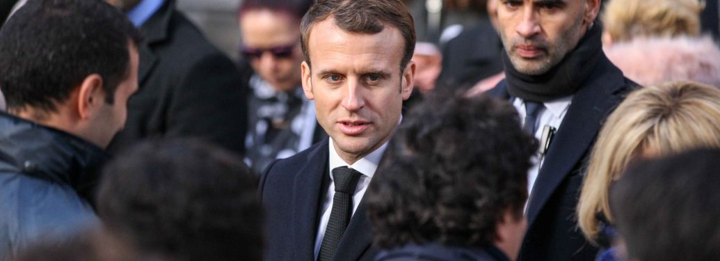 French President Emmanuel Macron (C) attends a ceremony at Paris 11th district town hall, France, November 13, 2017, during ceremonies held for the victims of the Paris attacks which targeted the Bataclan concert hall as well as a series of bars and killed