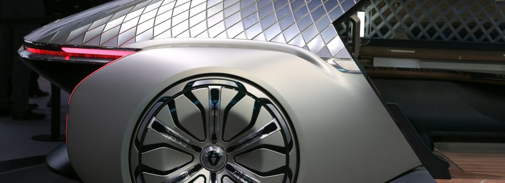 Renault EZ-ULTIMO Concept car is seen during the first press day of the Paris Motor Show at Paris Expo Porte de Versailles on October 02, 2018 in Paris, France. From 4 to 14 October 2018, the 'Mondial de l'automobile' presents to the public the new cars of