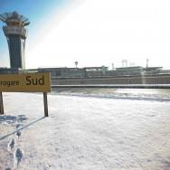 A l'aéroport Orly, sous la neige, l'activité continue…
