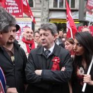 La gauche manifeste lors du 1er-Mai à Paris