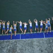 Le départ de l'épreuve Elite du Triathlon de Paris 2010