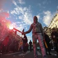 Ambiances parisiennes lors de la manifestation pour les retraites le 16 octobre