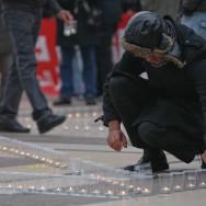 1 400 bougies pour les morts de Gaza