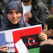 Rassemblement de soutien aux peuples libyen et syrien, à Paris