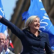 Portrait de Marine Le Pen le 1er mai 2011