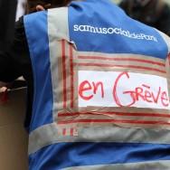 Mobilisation des salariés du Samu social de Paris contre les coupes budgétaires
