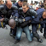 Une manifestation à Paris de sympathisants de la cause palestinienne fini en interpellations massives