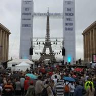 11 septembre 2011 : le drapeau américain flotte sur Paris