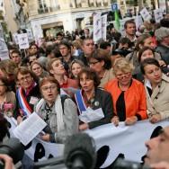 Manifestation à Paris contre les violences faites aux femmes