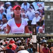 Les parisiens assistent sur grand écran au sacre de la joueuse de tennis Li Na