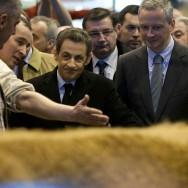 Sarkozy en campagne au Salon de l'agriculture