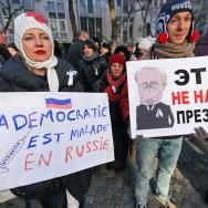 Manifestation anti-Poutine à Paris