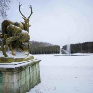 Première neige parisienne sur le parc de Sceaux