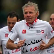 L'association Mécénat chirurgie cardiaque au départ du 36ème Marathon de Paris