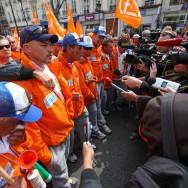 Les marcheurs d'ArcelorMittal de Florange sont arrivés à Paris