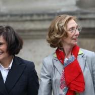 Geneviève Fioraso, ministre de l'Enseignement supérieur de la Recherche, et Marie-Arlette Carlotti, ministre déléguée chargée des Personnes handicapées