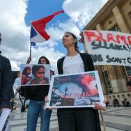 Rassemblement à Paris contre les persécutions de musulmans en Birmanie