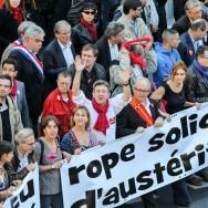 Mélenchon fait le plein de manifestants contre l'austérité et le traité européen