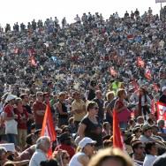 Fête de l'Huma  2012 : rassemblement de clôture