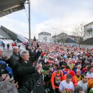 Richard Dell'Agnola donne le départ de la 14ème corrida de Thiais