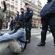 Manifestation de sans-papiers à Paris
