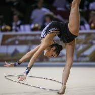 Delphine Ledoux, seule représentante de la GR française aux Jeux Olympiques de Londres