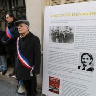 Commémoration à Paris de l'exécution de 22 résistants du groupe Manouchian