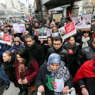 Manifestation à Paris en hommage à l'opposant tunisien assassiné Chokri Belaïd
