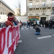 Clément Méric en action contre les opposants au mariage pour tous