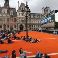 Roland-Garros sur grand écran à l'Hôtel de Ville de Paris