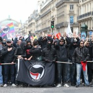 Manifestation antifasciste à Paris