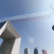 La patrouille de  France ouvre le défilé aérien du 14 juillet