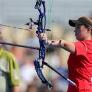 L'Américaine Erika Jones en Finale de la Coupe du monde de tir à l'Arc