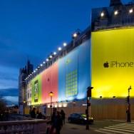 Paris : le quai des Orfèvres support de pub pour l'iPhone