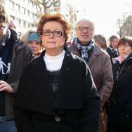 """Paris : Christine Boutin et d'autres personnalités politiques à la """"Manif pour tous"""""""