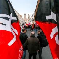 Orléans : manifestation contre la venue de Marine Le Pen.