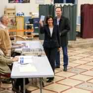 Municipales de Paris : Hidalgo vote dans le 15e arrondissement
