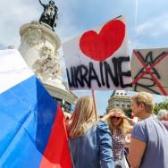 Paris : rassemblement pour la fin de la guerre en Ukraine