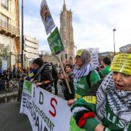 Paris : manifestation  de solidarité avec la Palestine
