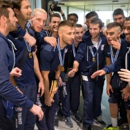 Roissy : le retour de l'équipe de France de volley-ball  championne d'Europe